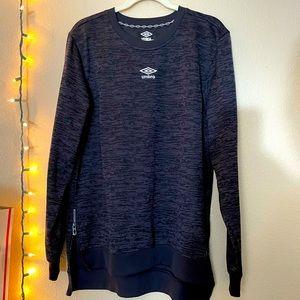 UMBRO Premier Sweater Sweatshirt Black Size Large
